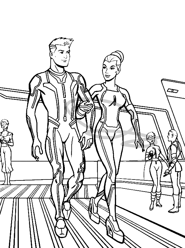 Tron Legacy Take A Tour Coloring Pages by years old sdghfg